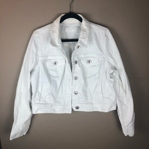 Maurice's White Denim Jacket